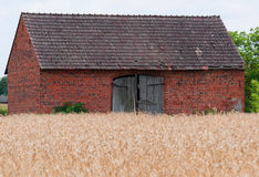 Old red barn on a farm Royalty Free Stock Photography
