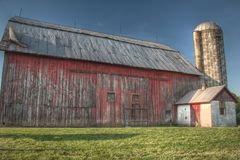 Old Red Barn Stock Photo