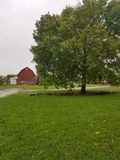 Beautiful barn and tree royalty free stock photography