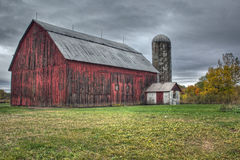 Old red Barn. In Jenison Michigan with fall colors Royalty Free Stock Photos