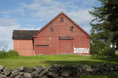 Old Red Barn in New England Royalty Free Stock Photography