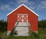 Old red barn Stock Images