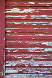Old Red Barn with Peeling Paint Stock Photo