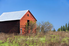 Old red barn. Stock Photography