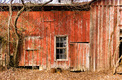 Old Red Barn. An old, wathered, red barn in rural North Carolina Royalty Free Stock Images