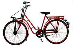 Old red bicycle Royalty Free Stock Photography