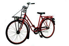 Old red bicycle Royalty Free Stock Images