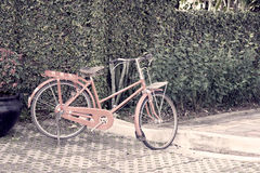 Old red bicycle. The old red bicycle in vintage style Royalty Free Stock Photography