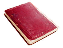 Old Red Book. Isolated on white background Royalty Free Stock Images
