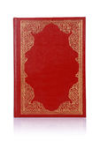 Old red book with gold color ornament on cover Stock Photography
