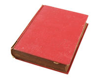 Old red book isolated. Over white with clipping path Royalty Free Stock Photography