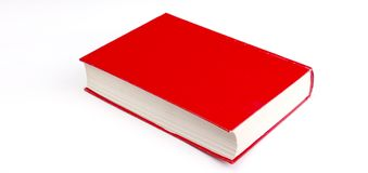Old red book isolated on white. Image of a Stock Photos