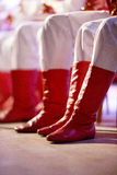 Old red boots Royalty Free Stock Image