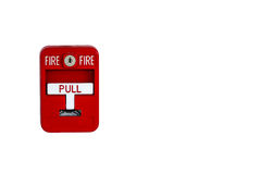 Old red box fire alarm Royalty Free Stock Photo