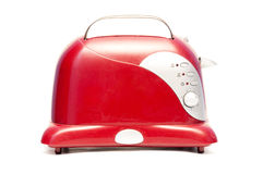 Old red bread toaster. On white background Stock Image