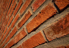 Old Red Brick at an Angle Royalty Free Stock Image