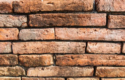 Old wall. Old red brick as background Stock Image