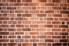 The old red brick city wall Stock Images
