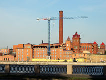 Old red brick factory building Stock Photography