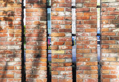 Old red brick fence Royalty Free Stock Image