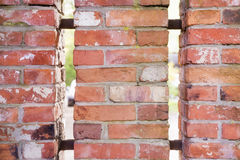 Old red brick fence Royalty Free Stock Photo