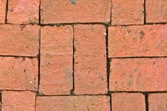 Old red brick floor pattern background, red brick wall backgroun Royalty Free Stock Photography