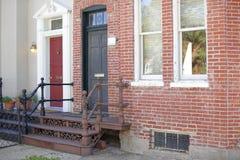Old red brick house Washington DC Stock Photos