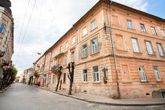 Old red brick houses in center of city Royalty Free Stock Image