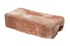 Old Red Brick Isolated Single On White Background Stock Images