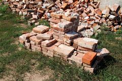 Old red brick royalty free stock image