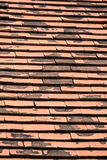 Old red brick roof tiles Royalty Free Stock Images