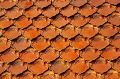 Old red brick roof Royalty Free Stock Image
