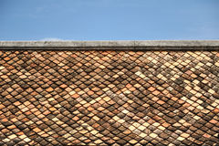 Old red brick roof Stock Photography