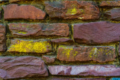 Old red brick and stone wall cement texture Royalty Free Stock Images