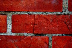 The old red brick wall. Royalty Free Stock Image