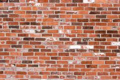 Old red brick wall Stock Images