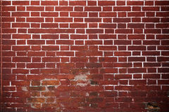 Old red brick wall background. Stock Photos