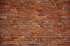 The old red brick wall Royalty Free Stock Photos