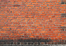 Old red brick wall background Stock Image