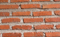 Old Red Brick Wall background. For adding word Royalty Free Stock Image