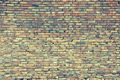 Old red brick wall background with copy space Stock Images