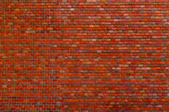 Old red brick wall background with copy space Royalty Free Stock Photos