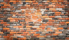 Old red brick wall background Royalty Free Stock Image