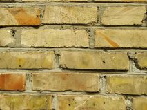 Old red brick wall background texture close up.  Stock Photos