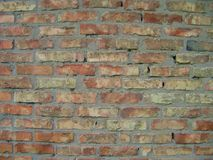 Old red brick wall background texture close up.  Stock Images