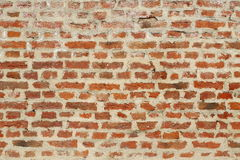 Old red brick wall background and texture Royalty Free Stock Photography