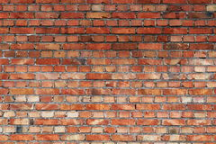Old red brick wall background and texture, grunge architecture Royalty Free Stock Photography