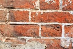 Old red brick wall background stock images
