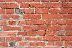 Old red brick wall background texture royalty free stock photography