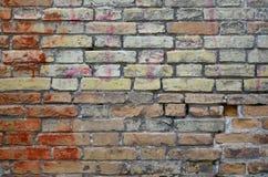 Old red brick wall background. Vintage grunge background stock image